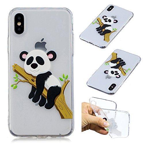 Creative Case for iPhone X,Transparent Soft Clear