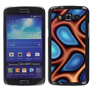"""For Samsung Galaxy Grand 2 II , S-type Extracto azul y naranja"""" - Arte & diseño plástico duro Fundas Cover Cubre Hard Case Cover"""