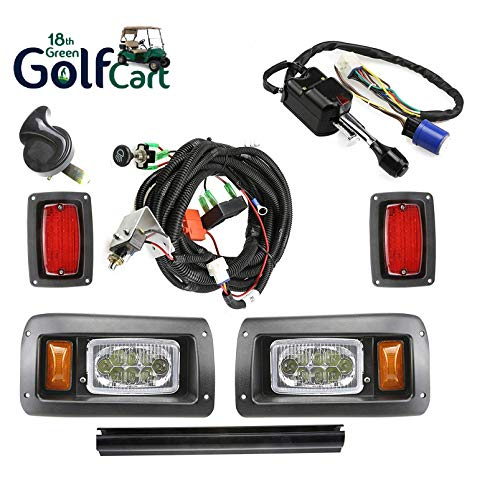13Autosupply 18th Green Golf Club CAR DS Golf CART Deluxe Street Legal All LED Light Kit 1993-UP