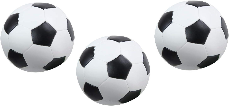 Lena 62162 - Juego de 3 Pelotas de fútbol Suaves, Color Blanco y ...