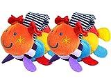 CC-US (1 Pair) Baby Soft Plush Wrist Rattle Caterpillar Hand Bell Wristband Developmental Toy for Kids Infants