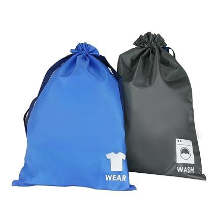 3a672e2059 Amazon.com  G.U.S. Set of 2 Water Resistant Travel Drawstring Bags ...