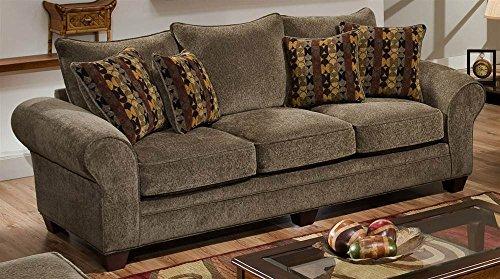 Upholstered Sofa in Mushroom