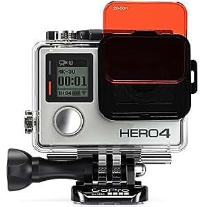 SANDMARC Aqua Filter: Filtro de buceo para GoPro Hero 4 / 3+ - Set de filtros rojo, magenta y amarillo - 5 Pack - Accesorios de buceo y snorkel