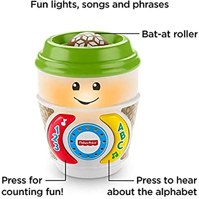 Fisher-Price Teether Rattle and On-The-Glow Fun Learning Coffee Cups Bundle Playset ~ DYW60, GCV95 ~ Colorful Toys for Child Development: Toys & Games
