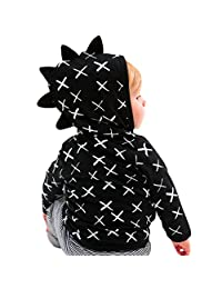 ANBOO Toddler Baby Dinosaur Jacket,Pattern Zipper Cosplay Coat Outerwear Clothes