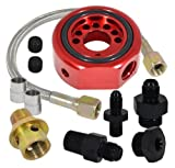 Car Engine Oil Supply Filter Adapter Aluminum