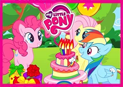 CAKEUSA My Little Pony Or Birthday Cake Topper Edible Image 1 4 Sheet Frosting