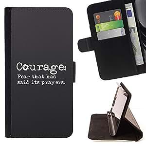 Momo Phone Case / Flip Funda de Cuero Case Cover - BIBLIA Coraje: miedo que ha dicho que sus oraciones; - HTC One Mini 2 M8 MINI