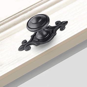 Antique Dresser Drawer Pulls Handles Backplate Black  Kitchen Cabinet Door Handle Pull Knobs  Furniture Hardware Back Plate Rustic Unique