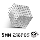 Magnetic Cube 216pcs 5mm Magnets Cube Magnets Block Puzzle Format Magnetic Holders Square Cube Children's Puzzle magic cube Toys The best magic cube DIY Puzzle Educational