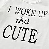 3Pcs Baby Girl Outfits Set I Woke Up This Cute Long