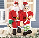 Set of 2 Mr & Mrs Claus Stuffable Couple Patio