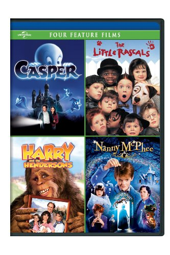 Casper / The Little Rascals / Harry and the Hendersons / Nanny McPhee Four Feature Films -