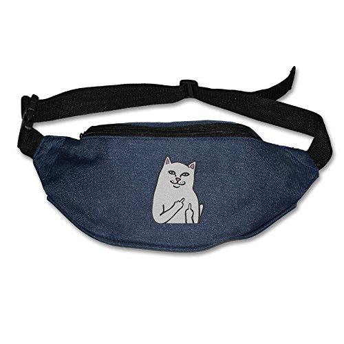 Unisex Outdoors Funny Humor Ripndip Cat Waist Bag Packs Navy