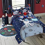 Vibrant Warm and Cozy Better Homes and Gardens Kids Astronaut Comforter Set, Twin, Blue