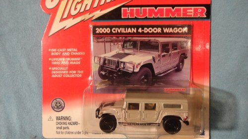 JOHNNY LIGHTNING 1:64 SCALE SILVER 2000 CIVILIAN 4-DOOR WAGON HUMMER DIE-CAST COLLECTIBLE