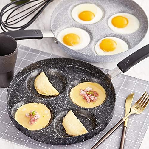 Pot à œufs Frits à Quatre Trous Poêlon à œufs Pour Crêpes Poêle à Frire Antiadhésive Facile à Nettoyer Poêle à Frire Plaque De Cuisson Multifonction