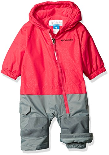 Columbia Baby Little Dude Suit, Punch Pink Floral, 18-24 Months - One Piece Insulated Ski Suit