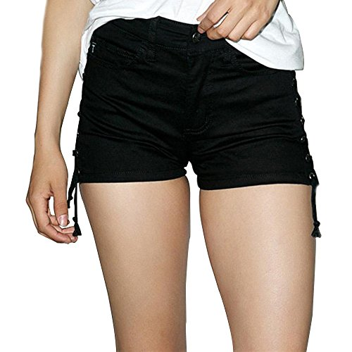 Sequins Bahama Infants (Clearance Sale!FarJing Women Sexy Hollow Out Bandage Summer Fitted Short Pants(L,Black ))
