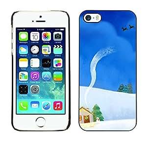 YOYO Slim PC / Aluminium Case Cover Armor Shell Portection //Christmas Holiday Snowy House 1169 //Apple Iphone 5 / 5S