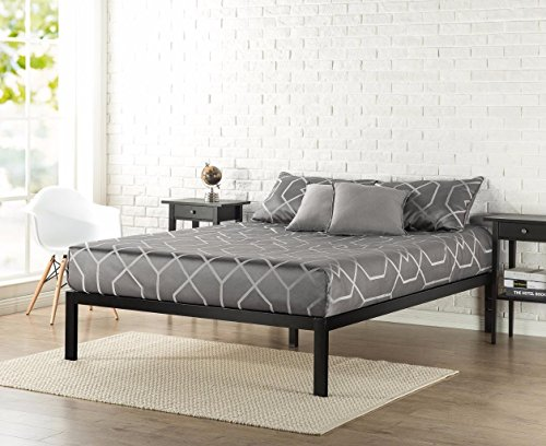 Zinus Modern Studio 14 Inch Platform 3000 Metal Bed Frame/Mattress Foundation/no Boxspring needed/Wooden Slat Support/Good Design Award Winner, Cal King
