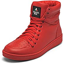 TRAVEL FOX Men's 900 Nappa Leather Lace-Up High-Top Sneaker