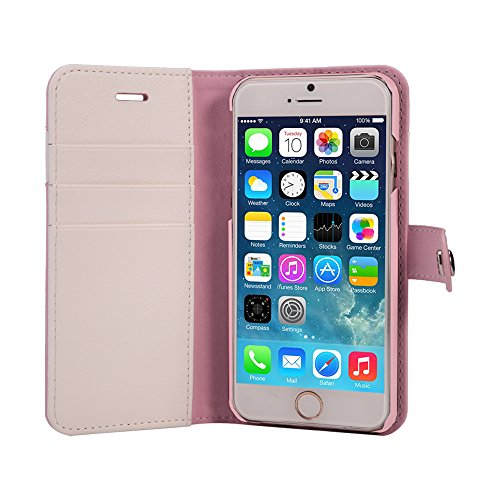 AceAbove iPhone 6S Wallet Case, Premium PU Leather Wallet Cover with [Card Slots] & [Stand] Function for Apple iPhone 6 (2014)/iPhone 6S (2015) – Pink by AceAbove (Image #1)