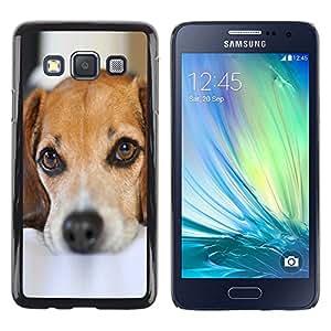 Stuss Case / Funda Carcasa protectora - Cute Puppy Dog Pet Mutt Mongrel Sad - Samsung Galaxy A3 SM-A300