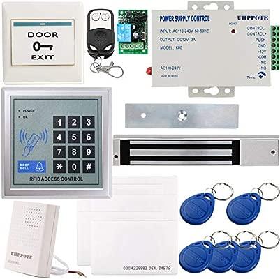 UHPPOTE Kit Completo Sistema Entrada De Control De Acceso De Seguridad 125 KHz EM-ID Tarjeta De Una Sola Puerta Con Cerradura Magnética Eléctrica ...