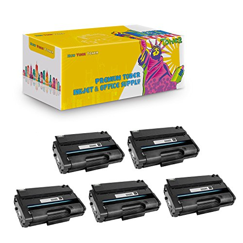 New York TonerTM New Compatible 5 Pack 406989 High Yield Toner for Ricoh : Aficio SP3500 | SP3500DN | SP3500N | SP3500SF | SP3510 | SP3510DN | SP3510SF. --Black