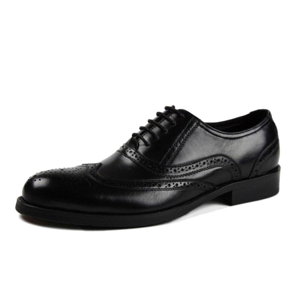 Herren Klassische Oxford Echtleder Brogues Formal Derby Männer Business Anzug Schnürschuhe Für Männer Derby Hochzeit Abendgesellschaft Arbeit Schuhe schwarz 17e410