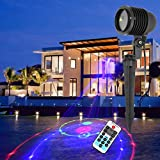 Outdoor Lights GDF12RGB 8W Life Waterproof 12 in 1 Patterns Outdoor Lawn Yard Garden Decorative Projector Lamp with Remote Controller Garden Lights