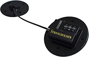 Refrigerator Lock Combination, Fridge Lock Combo - Take Care of your Family with Strongholden - No Keys Needed - Just Stick It - Black