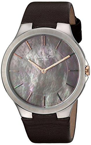 Kenneth Cole New York Women's KC2705 Slim Round Analog Brown Dial Watch