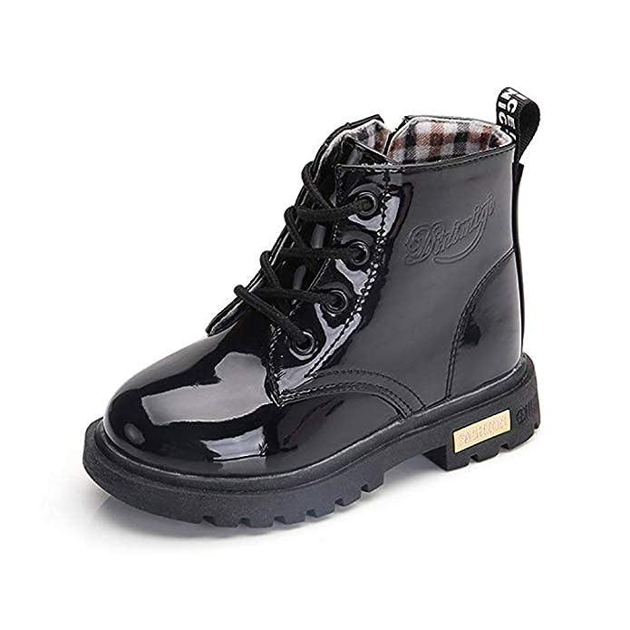 Botas Niño Botines Niña Botas de Invierno Antideslizante Botas de Nieve Transpirable Martin Botas: Amazon.es: Zapatos y complementos