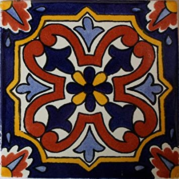 Amazoncom X Pcs Picota Talavera Mexican Tile Home Kitchen - Discount mexican tile