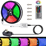 Led Strips Lights Topsharp Led Light Strips with Remote Full Kit 5050 RGB 5M Led Strip Light+44 Key IR Remote+12V 3A Power Supply(Built-In IC and Fuse)