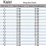 Kaizi Women's Red String Tungsten Carbide Ring 8mm