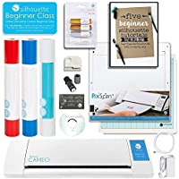 Silhouette Cameo Starter Bundle with Online Class, Guide, Pixcan, Full Vinyl Rolls, Metallic Pens, and More!
