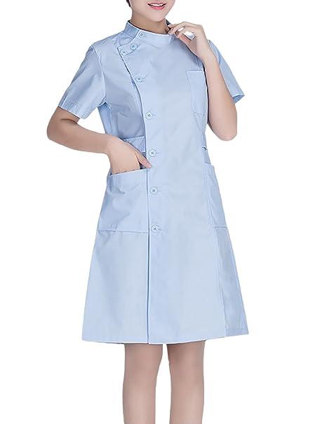 THEE Uniforme Médico Ropa Enfermera Bata Médico Laboratorio Enfermera Sanitaria: Amazon.es: Ropa y accesorios