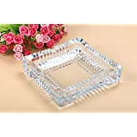 Pure Source India Crystal Clear Glass Ash Tray Squire.Designer Ash Tray
