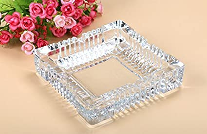 Pure Source India Crystal Clear Glass Ash Tray Squire.Designer Ash Tray Ashtrays at amazon