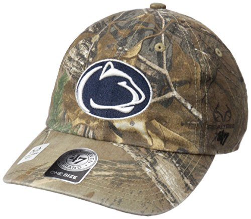 NCAA Penn State Nittany Lions Adult '47 Clean Up Realtree Adjustable Hat, One Size, Realtree (Realtree Camo Adjustable Hat)