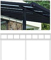 Techo de aluminio para terraza y pérgola, 557 x 303: Amazon.es: Jardín