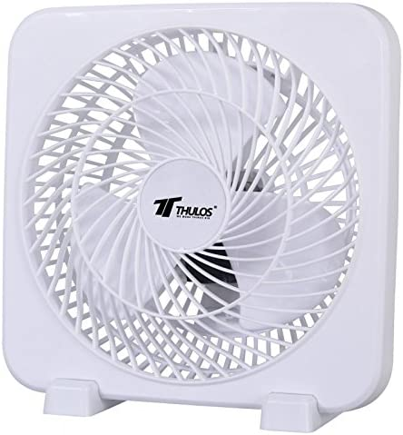 Ventilador cuadrado de 3 velocidades, alta velocidad, portátil y potencia de 45W. Color: Blanco: Amazon.es: Hogar