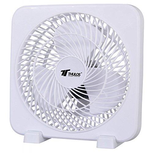 alta velocidad Ventilador cuadrado de 3 velocidades Color: Blanco port/átil y potencia de 45W