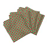 Chemistry Science Nerd Geek Christmas Holiday Funny Linen Cotton Dinner Napkins Chemistry Christmas (Small) by Robyriker Set of 4 Dinner Napkins