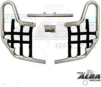 TRX250EX SPORTRAX TRX 250EX Compatible with Honda Standard Nerf Bars Red Bars w//Black Net 2001-2008