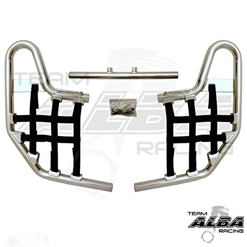 TRX 250EX, TRX250EX SPORTRAX (2001-2008) Standard Nerf Bars - Compatible with Honda - Silver Bars - Compatible with Honda - w/Black Net (Honda Nerf Bars)